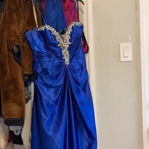 Tony Bowls royal blue dress